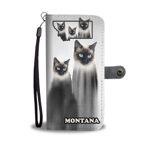 Siamese Cat Print Wallet CaseMT State