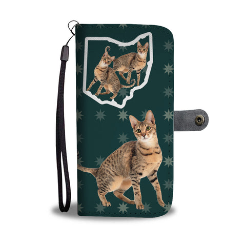 Savannah Cat Print Wallet CaseOH State