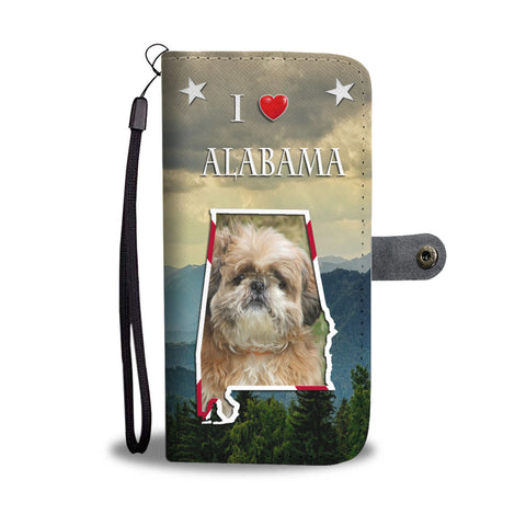 Lovely Shih Tzu Print Wallet CaseAL State
