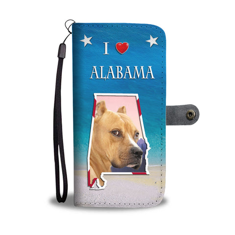 Staffordshire Terrier Print Wallet CaseAL State