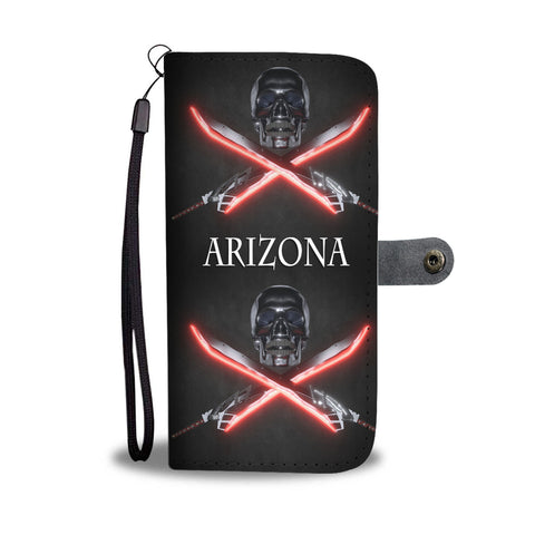 Skull And Swords Print Wallet CaseAZ State