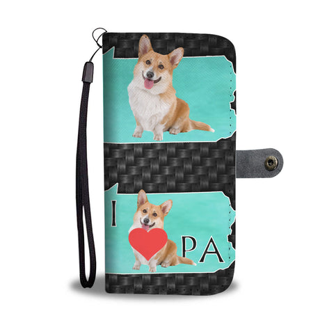 Cardigan Welsh Corgi Dog Print Wallet CasePA State