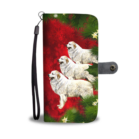 Great Pyrenees Dog Art Christmas Print Wallet Case