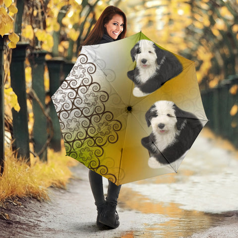 Old English Sheepdog Print Umbrellas