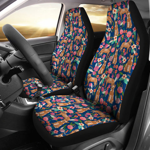 Australian Cattle Dog Floral Print Car Seat Covers