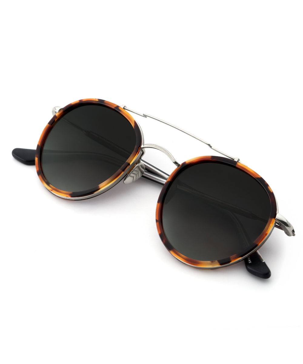POYDRAS | Havana + Black and Crystal handcrafted acetate sunglasses