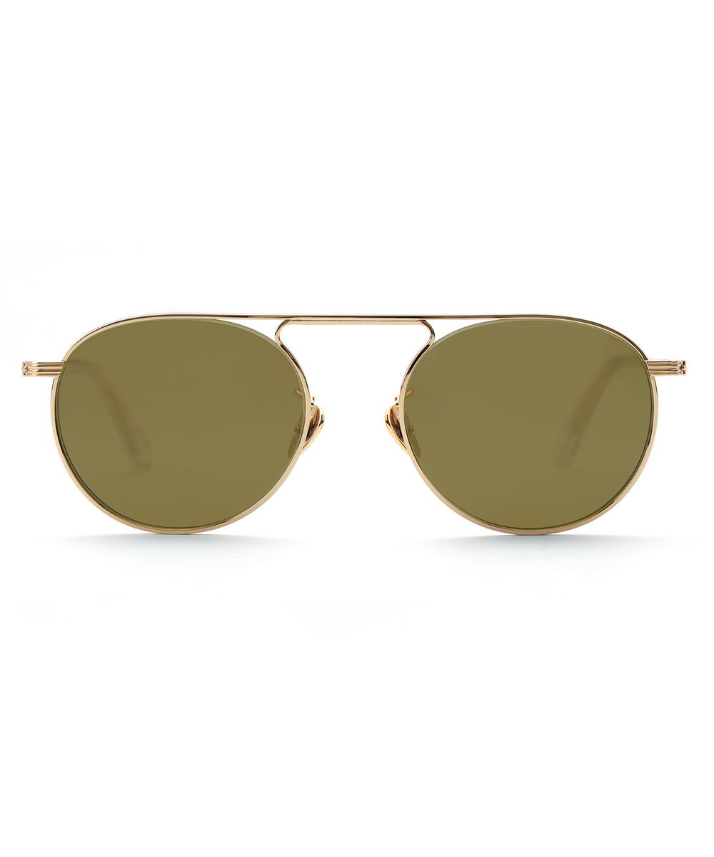 RAMPART | 24K Titanium + Crystal Polarized handcrafted acetate sunglasses