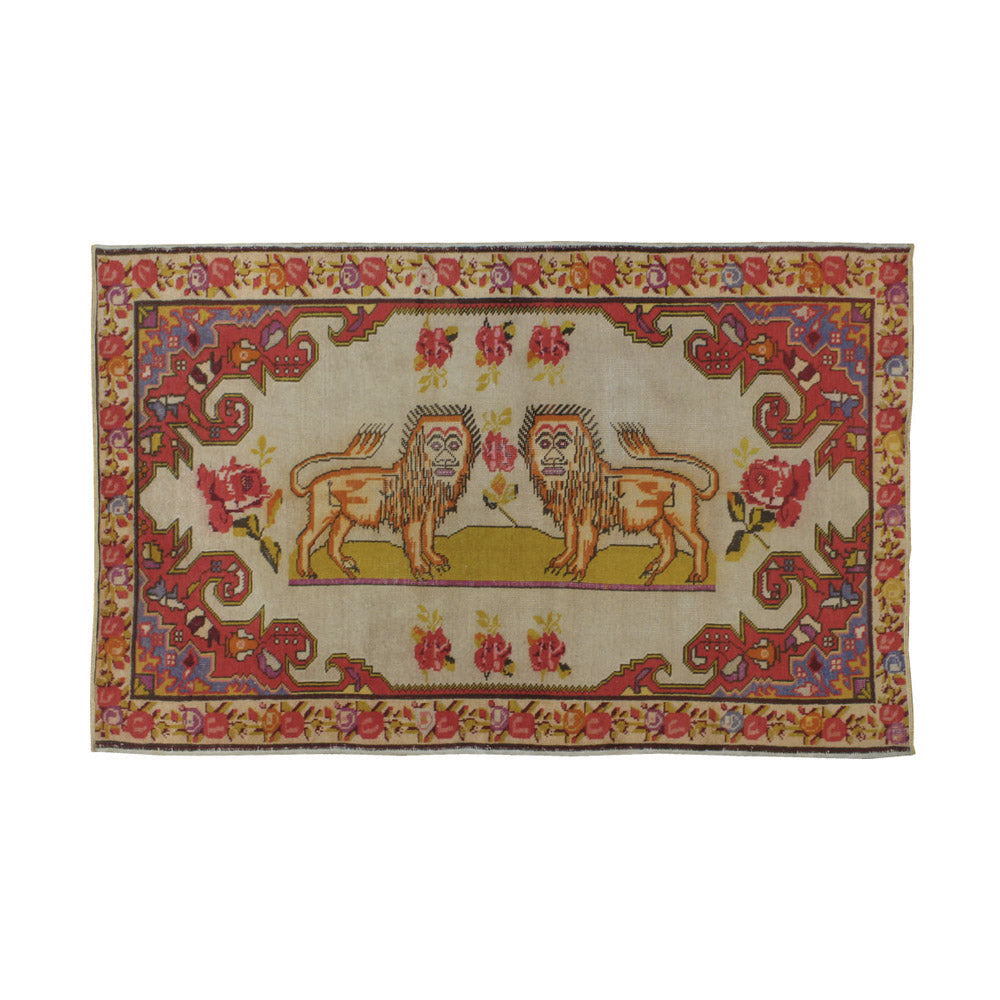Antique Sivas Pictorial Rug