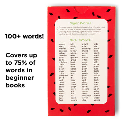 100 Sight Words for Second Grade.  Covers 75% of words in beginner books