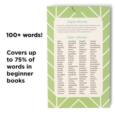 100 Sight Words for Third Grade.  Covers 75% of words in beginner books