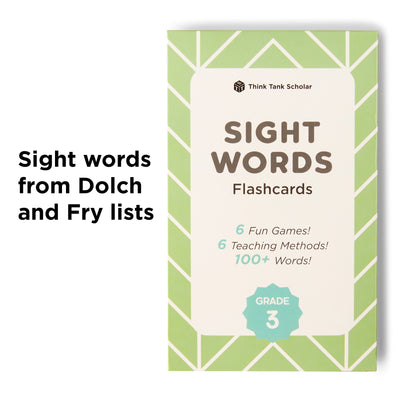 3rd Grade Sight Word Flash Cards from Dolch & Fry