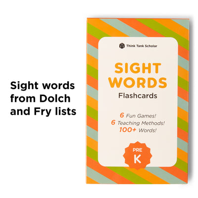 Prek Sight Word Flash Cards from Dolch & Fry