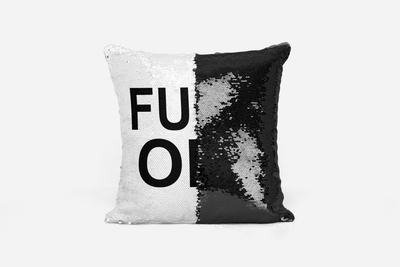 Fuck Off Sequin Cushion Cover