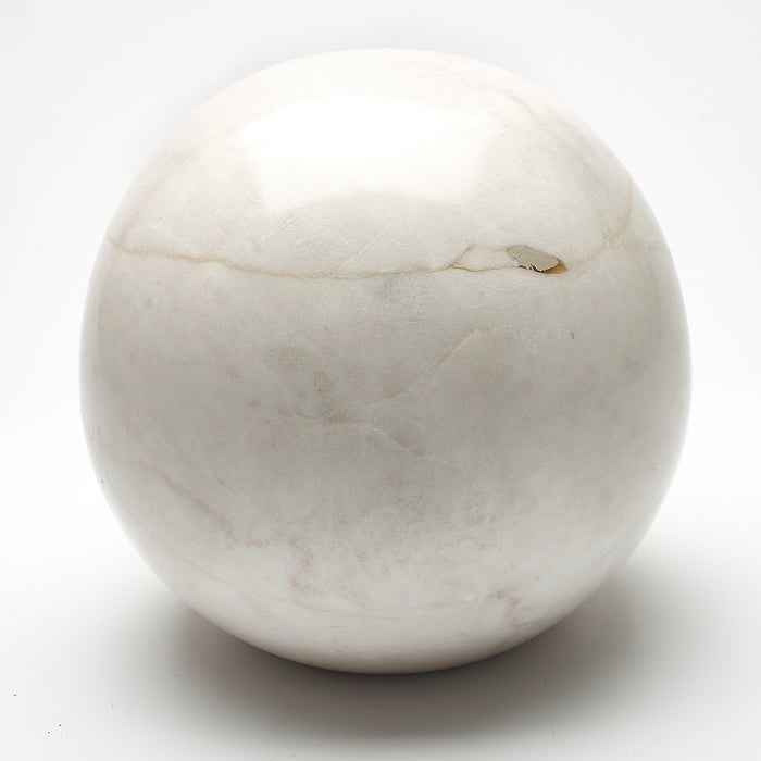 Cremation Urn - Large Luxury Marble White Sphere