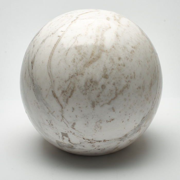 Cremation Urn - Large Luxury Marble White Speckled Sphere