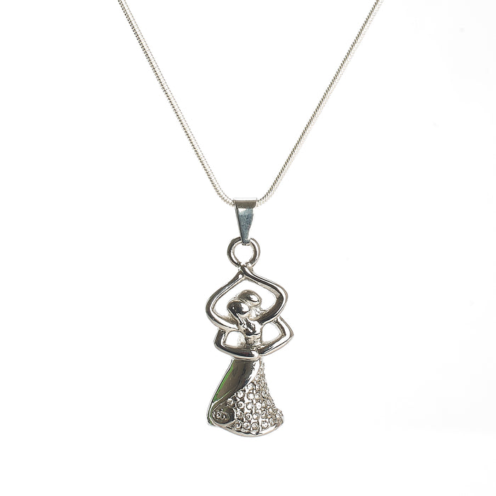 Cremation Pendant - Emotive - Dancing, Embracing Couple