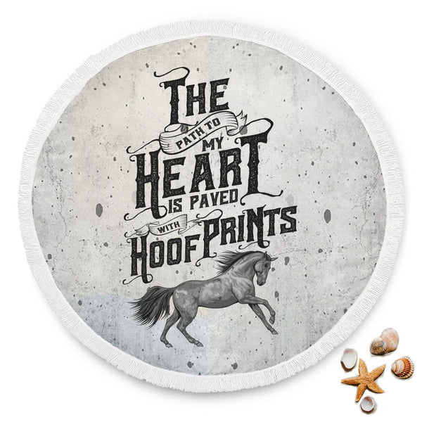 Hoof Prints Beach Towel