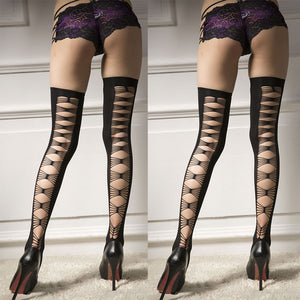 New Style Hollow Sexy Stockings Over Knee Stockings Fishnet Tights Stockings