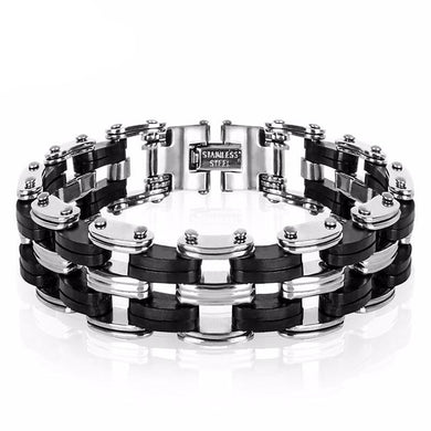 Men High Quality Stainless Steel Bike Chain Bracelette