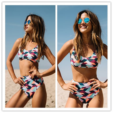 High Waist Vintage Bikini Set Swimsuit