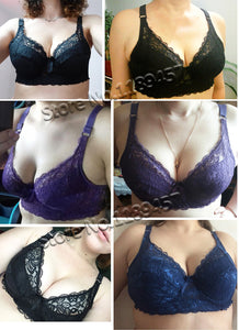 Hot Full cup thin bra plus size wireless adjustable lace Women's bra