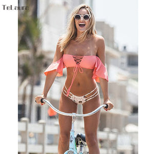 2018 Sexy Brazilian Bikini Off Shoulder Swimsuit