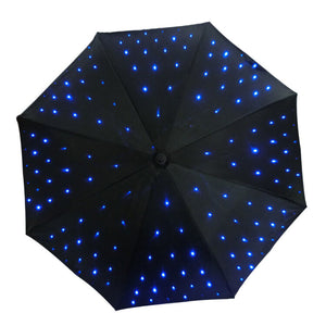 Unique LED light UV Umbrella with flashlight for photography, stage, outdoors use