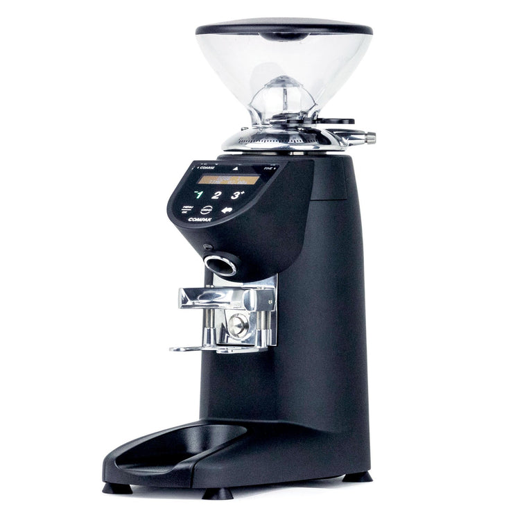 Compak E5 espresso burr grinder, 3/4 view from Clive Coffee - Knockout