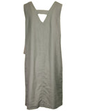 Plain Linen Mix Shift Dress