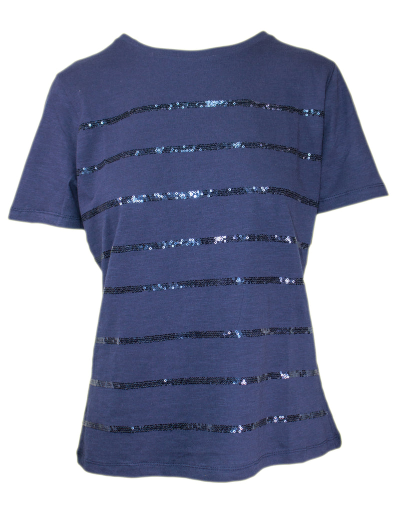 MITZY Short Sleeve Sequin Stripe T-shirt