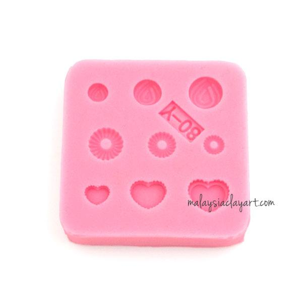 Miniature Small Love Pastry Silicone Mold