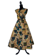 Brown Butterfly African Print Wrap Dress