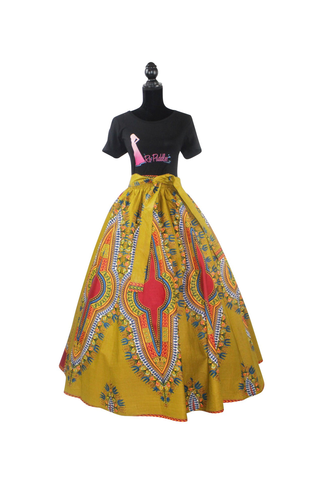 Heritage Dashiki Maxi Skirt (Multiple Colors)