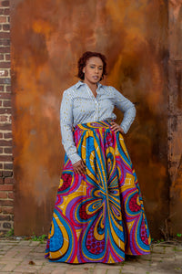 Top Quality Custom Made African Print Maxi Skirt