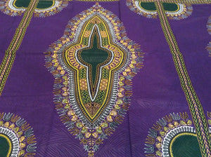 Dashiki Prints - Purple and Green (Short)