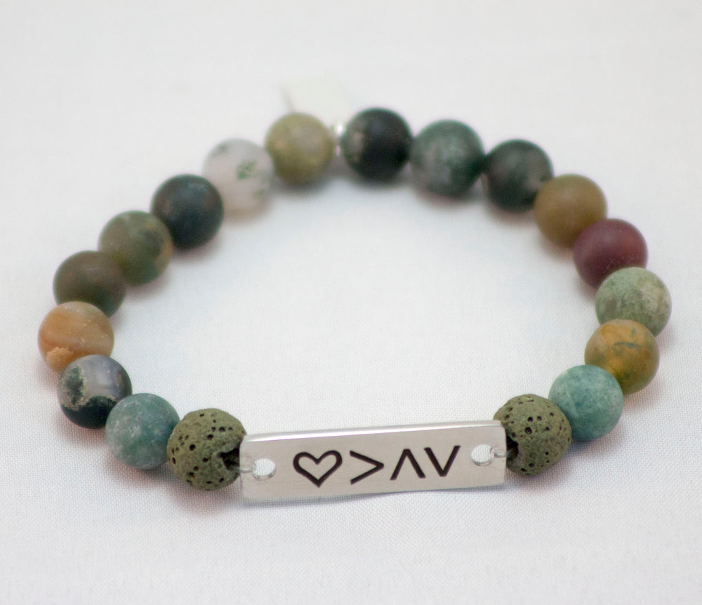 Love is Greather than Bar Bracelet