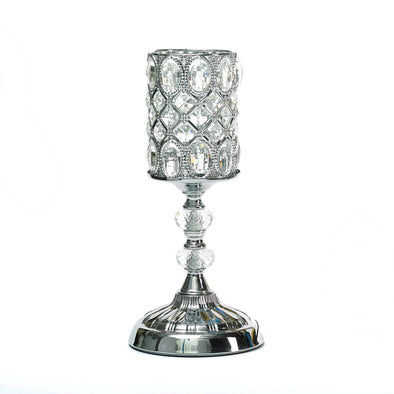 Silver Crystal Table Led Lamp