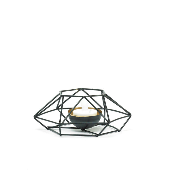 Trendy Black Wired Tea-Light Candle Holder