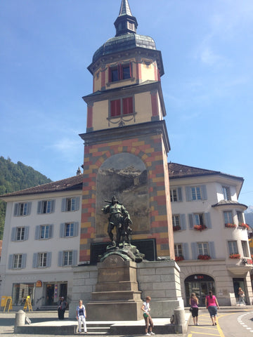 Wilhelm Tell Statue in Altdorf, Uri, Switzerland