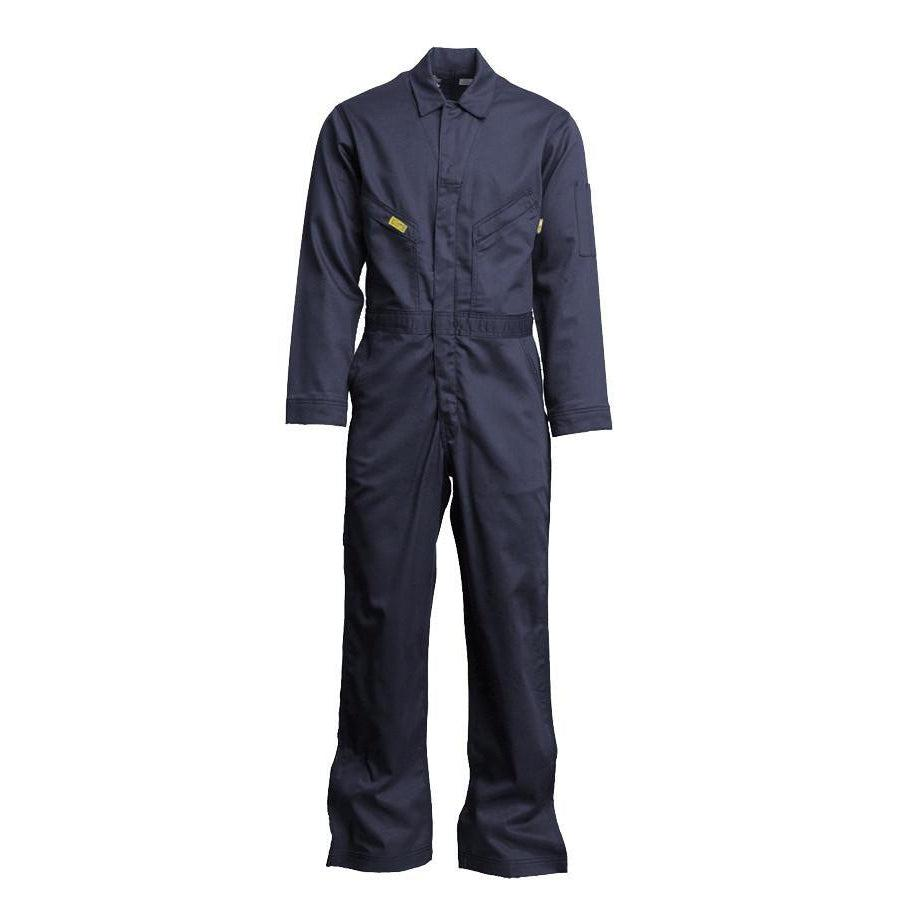 LAPCO FR GOCD7NY Navy 7oz. FR Deluxe Coveralls