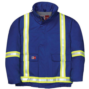 Big Bill FR M405US7-BLR Royal Blue Bomber Jacket with Reflective Material