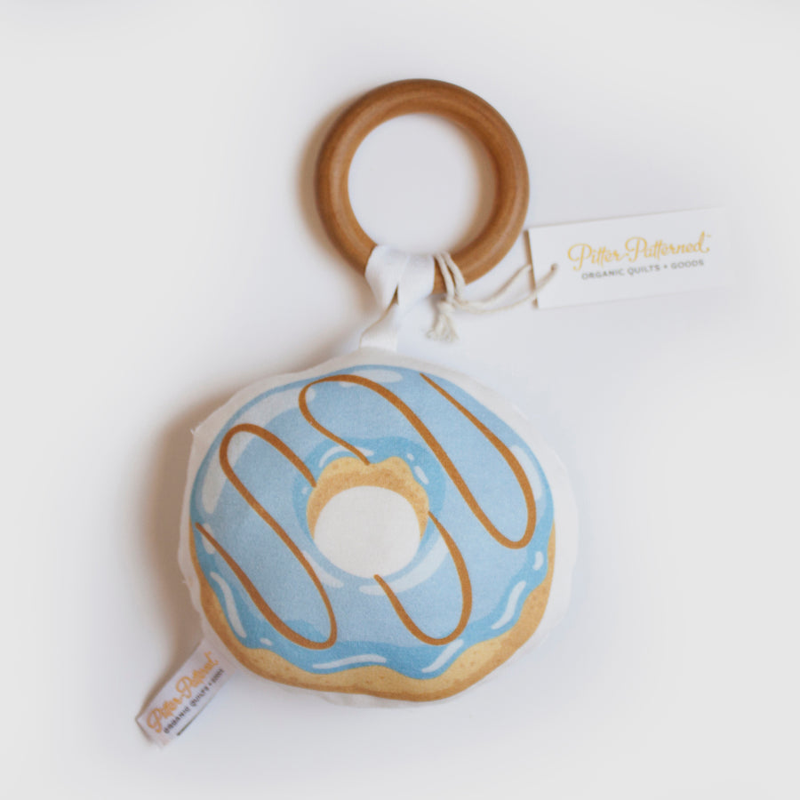 Donut Rattle - Blue