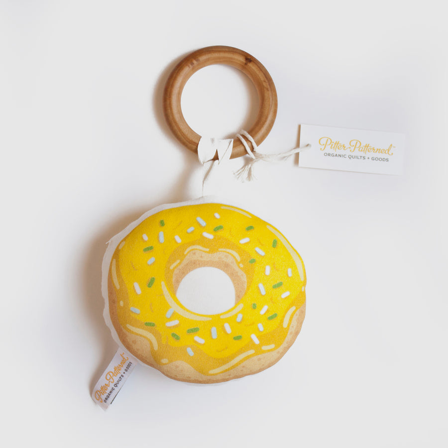 Donut Rattle - Yellow