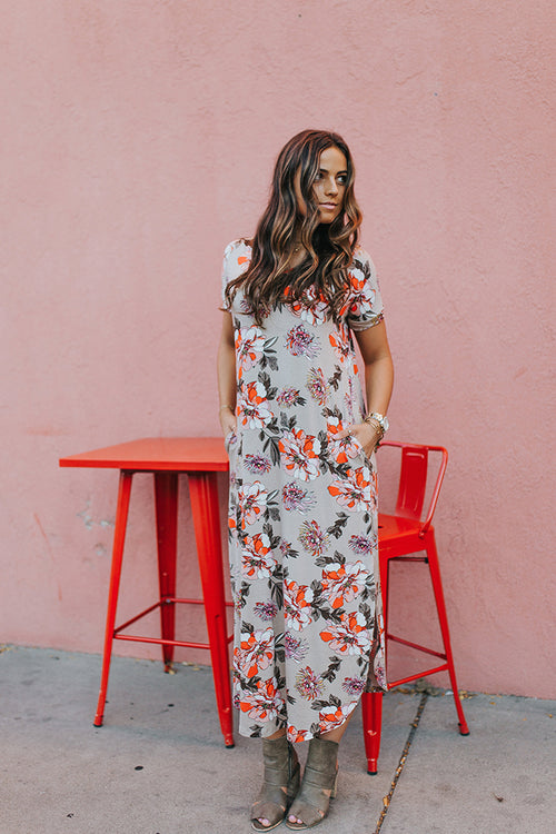 Dusty Floral Dress