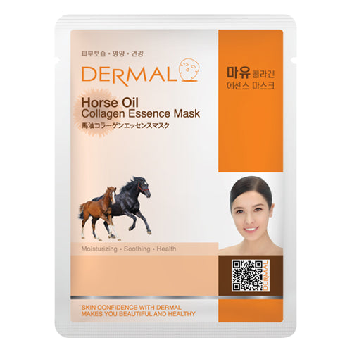 DERMAL Horse Oil Collagen Essence Mask 10 Pieces