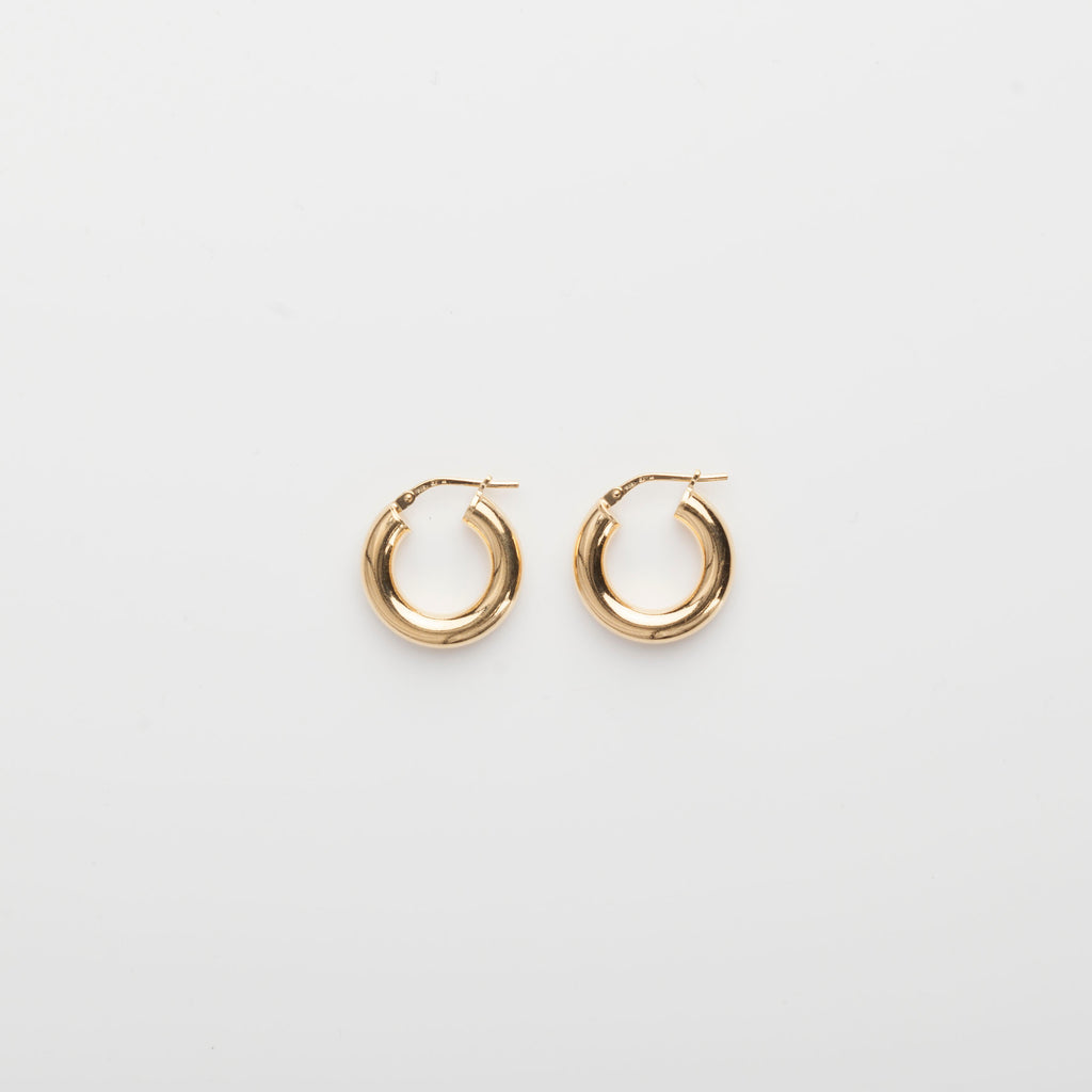 1.8 Thick Hoops - Gold Vermeil