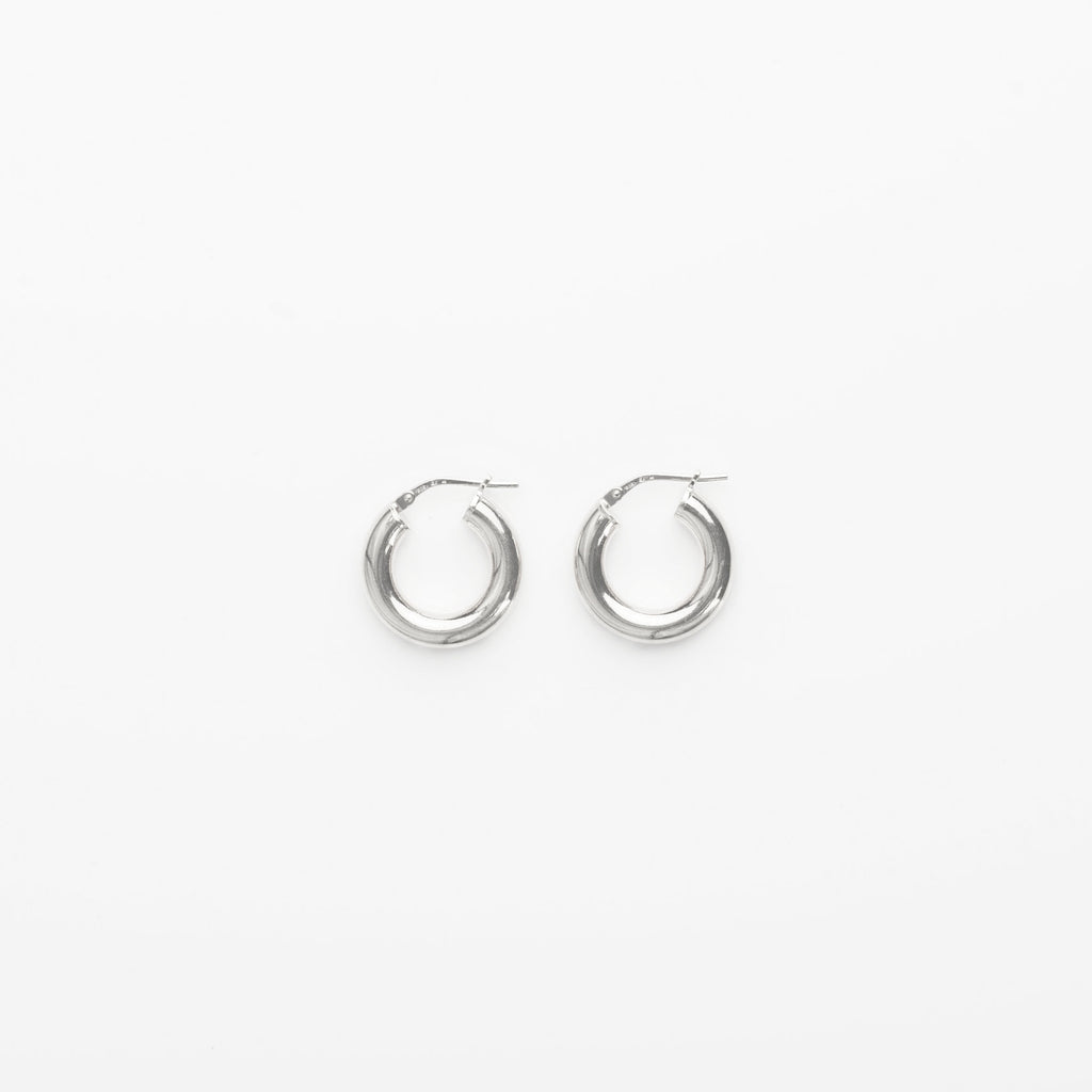 1.8 Thick Hoops - Silver