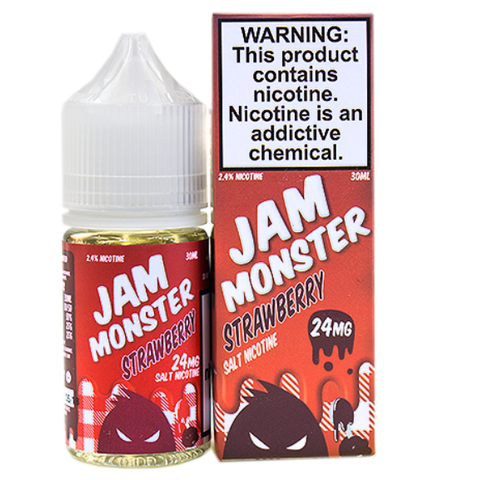 Strawberry E Liquid by Jam Monster Liquids Salt 30ml
