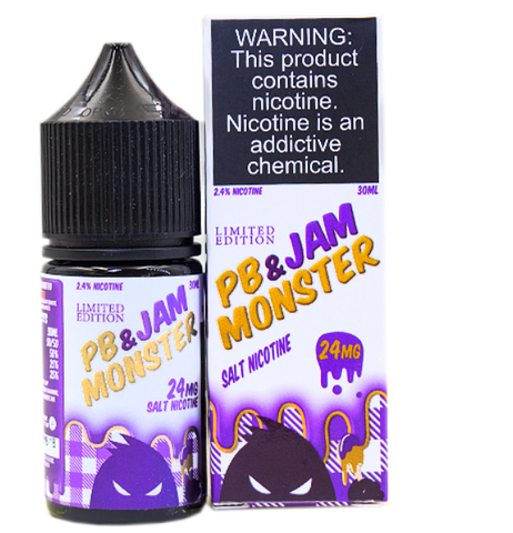 PB & Jam Grape by Jam Monster Salt 30ml