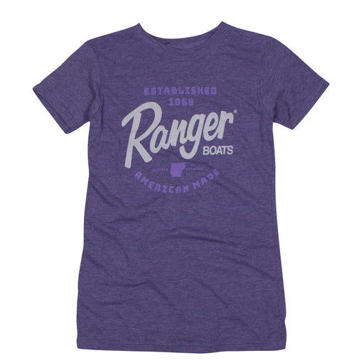 Ladies Lilac Tee - Angler's Choice Marine
